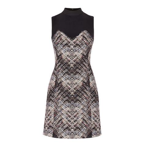 Plaid Turtleneck Dress, ${color}
