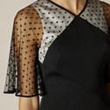 Cape Overlay Pencil Dress, ${color}
