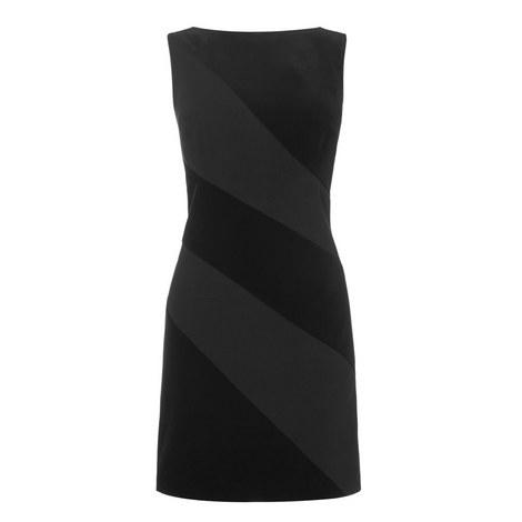 Velvet Panel Dress, ${color}