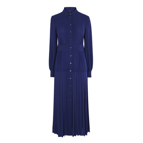 Pleated Shirt Dress, ${color}