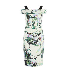 Tropical Lily Bodycon Dress