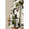 Tropical Lily Flared Dress, ${color}
