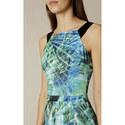 Palm Print Bodycon Dress, ${color}