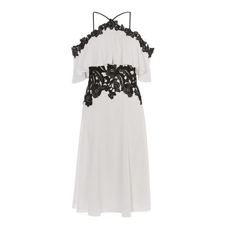 Lace Overlay Off-Shoulder Dress, ${color}