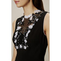 Embroidered Lace Yoke Dress, ${color}
