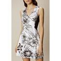 Botanic Print A-Line Dress, ${color}
