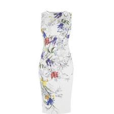 Botanical Print Pencil Dress