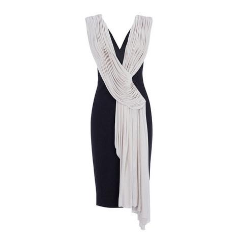 Grecian Drape Bodycon Dress, ${color}