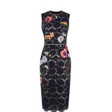 Floral Lace Pencil Dress
