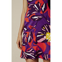 Psychedelic Print Mini Dress, ${color}