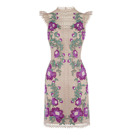 Floral Embroidery Mini Dress, ${color}