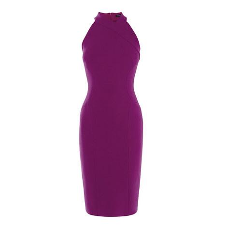 Halter Neckline Bodycon Dress, ${color}