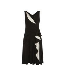 Ruffle Wrap Gown