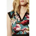 Painterly Floral A-Line Dress, ${color}