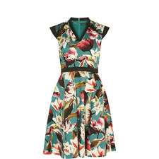 Painterly Floral A-Line Dress