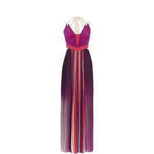 Pleated Colour-Block Dress