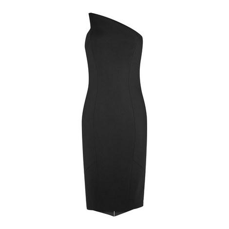 Angular One Shoulder Dress, ${color}