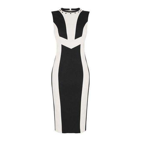 Monochrome Panel Dress, ${color}