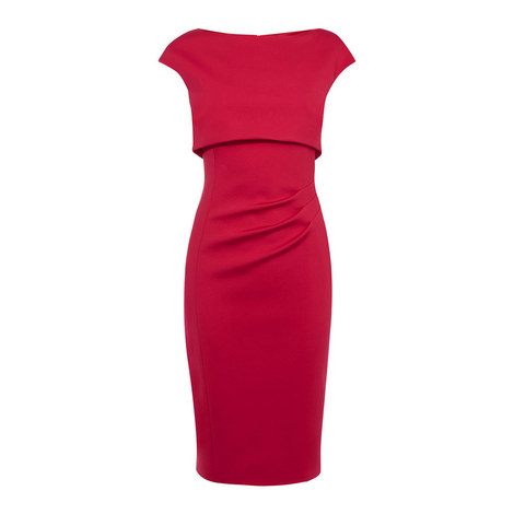 Double Layered Pencil Dress, ${color}