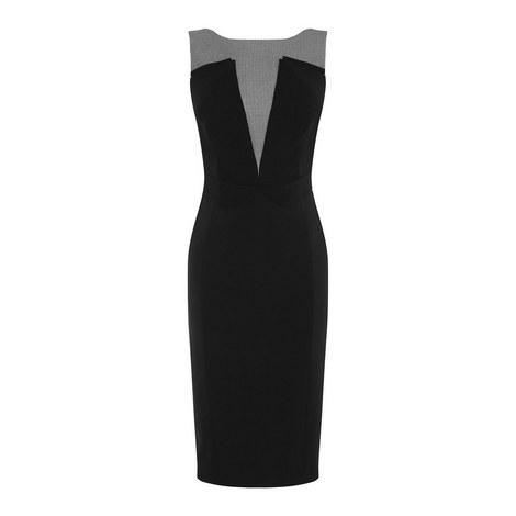 Graphic Panelled Pencil Dress, ${color}
