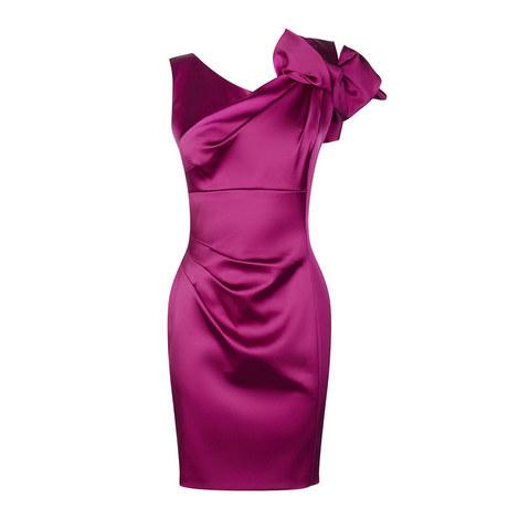 Draped Satin Dress, ${color}
