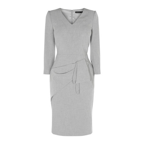 Folded Pencil Dress, ${color}