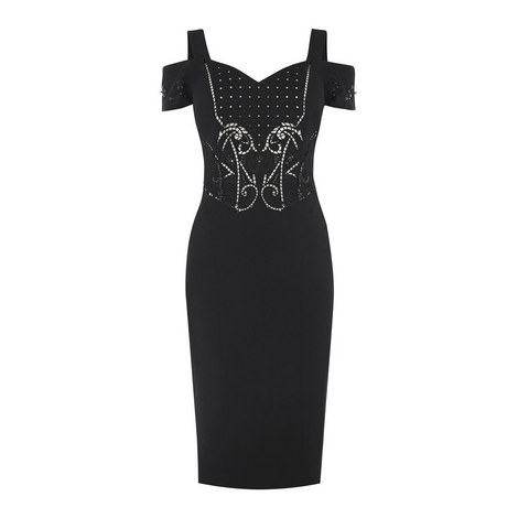 Embellished Bodice Bodycon Dress, ${color}