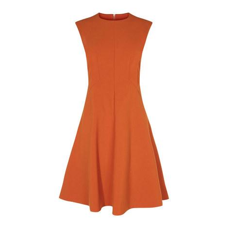 Sculpted A-Line Dress, ${color}