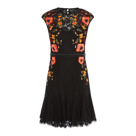 Embroidered Cocktail Dress, ${color}