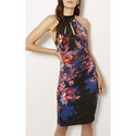 Midnight Floral Bodycon Dress, ${color}
