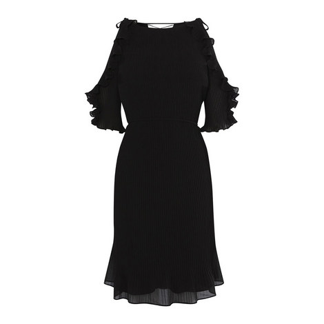Ruffled Off-Shoulder Dress, ${color}