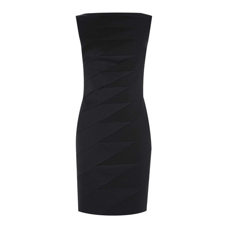 Zig Zag Satin Pencil Dress, ${color}