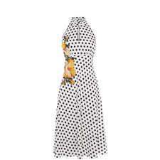 Halterneck Polka Dot Dress