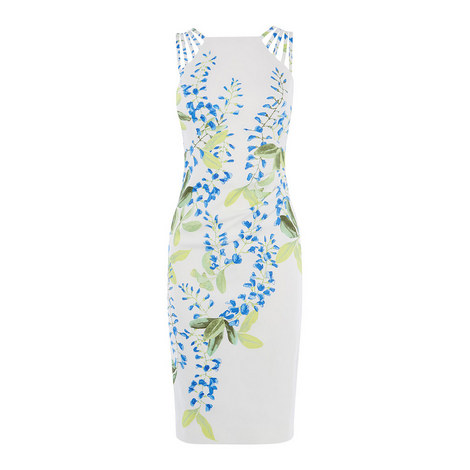Floral Sleeveless Midi Dress, ${color}