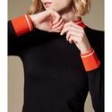 Stripe Trim Mini Dress, ${color}