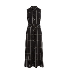 Sleeveless Check Shirt Dress