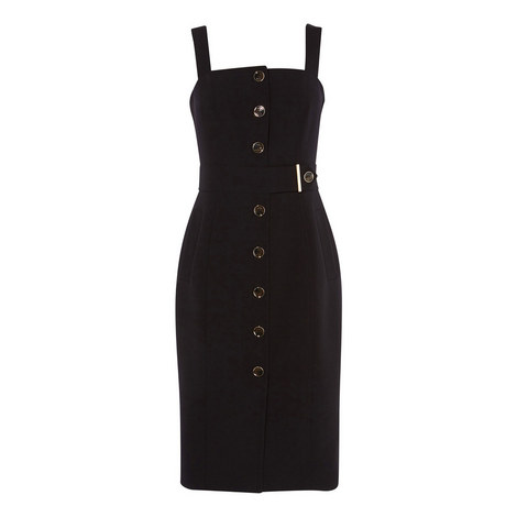 Buttoned Bodycon Dress, ${color}