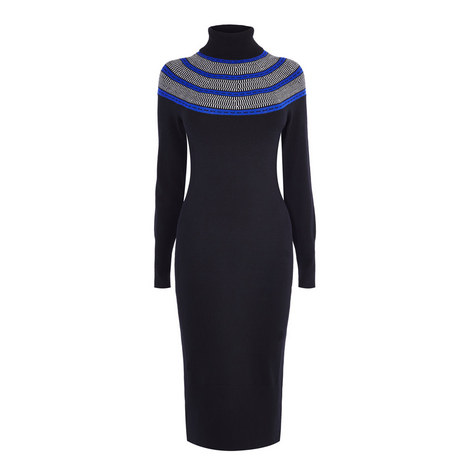 Circle Yoke Sweater Dress, ${color}