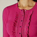 Ruffle Front Cardigan, ${color}
