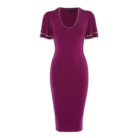 Ruffle Knit Bodycon Dress, ${color}