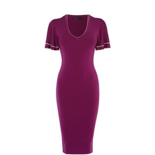 Ruffle Knit Bodycon Dress