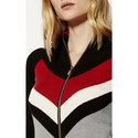 Colour-Block Ribbed Cardigan, ${color}
