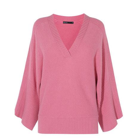 Kimono Cashmere-Blend Knit, ${color}