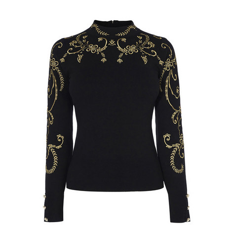 Baroque Embroidery Sweater, ${color}