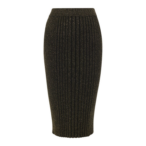 Ribbed Knit Bodycon Skirt, ${color}