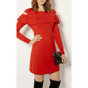Frilled Knit Dress, ${color}