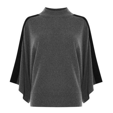 Velvet Knit Poncho, ${color}