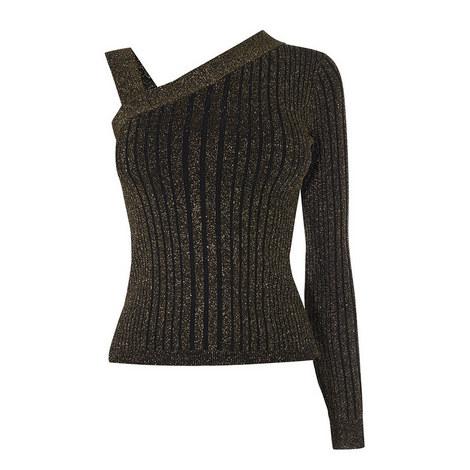 One-Shoulder Knit Top, ${color}