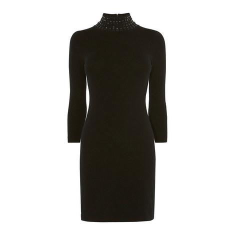 Bejewelled Fine Knit Dress, ${color}