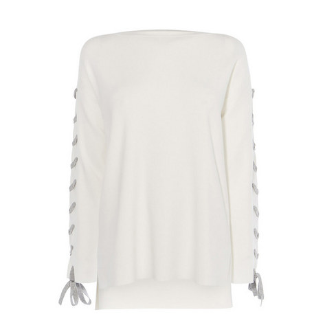 Laced Tunic Knit, ${color}